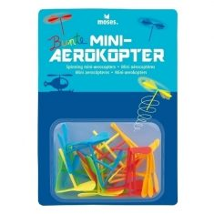Bunte Mini-Aerokopter, 24er-Set