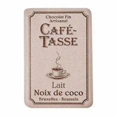Café Tasse Schokoladentäfelchen - Lait Noix de coco