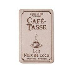 Café Tasse Schokoladentäfelchen - Noix de coco