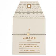 Make a wish Armband - Small Heart gold/black, von timi.