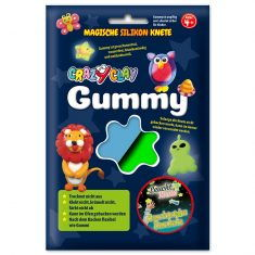 CrazyClay Gummy - Leucht-Knete Blau