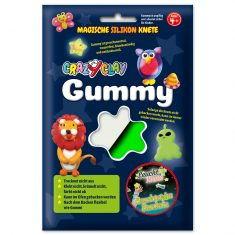 CrazyClay Gummy - Leucht-Knete Weiß