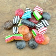 Dänische Bonbons im Spitzbeutel, zuckerfrei