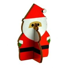 Deko-Weihnachtsmännchen aus Holz, 6,5 cm