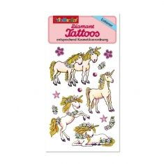 Diamant-Tattoos - Einhörner 2