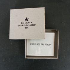 Die kleine Adventskalender Box