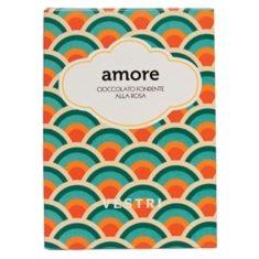 Edelbitterschokolade mit Rosen - Amore