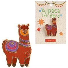 Emaille-Pin - Alpaka, Alpaca the Herd