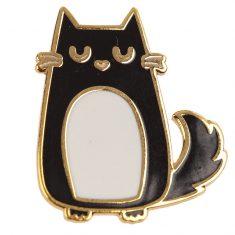 Emaille-Pin - Katze, Feline Fine Cat