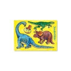 Fensterbild-Postkarte - Dinos