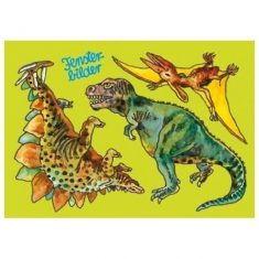 Fensterbild-Postkarte - Dinosaurier