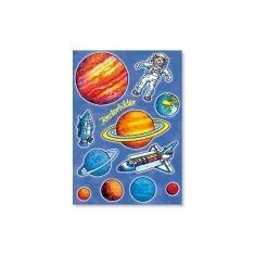 Fensterbild-Postkarte - Sonnensystem