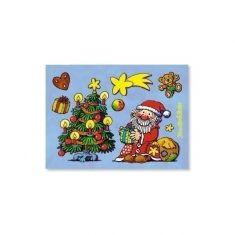 Fensterbild-Postkarte - Weihnachten