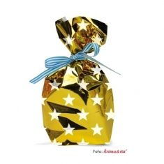Folientüten - Sterne gold, 10er-Set