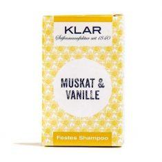 KLAR Festes Shampoo - Muskat & Vanille