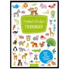 Funkel-Sticker Tierkinder