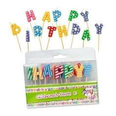 Geburtstagkerzen - Happy Birthday, 13 St.