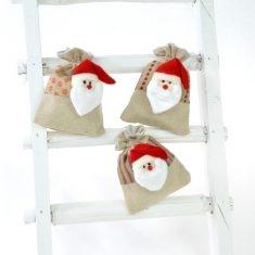 Geschenkbeutel - Santa Claus, 6er-Set