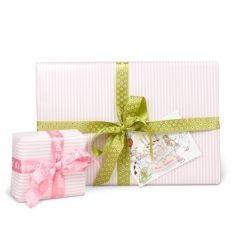 Geschenkpapier - gestreift/rosa