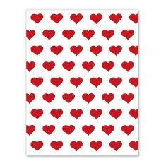 Geschenkpapier - Herzen rot