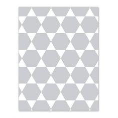 Geschenkpapier - Sechseck grau