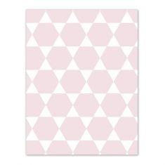 Geschenkpapier - Sechseck rosa