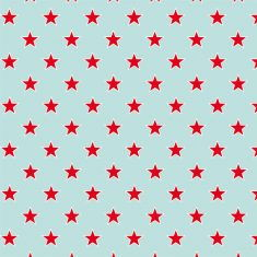 Geschenkpapier - Sterne türkis-rot