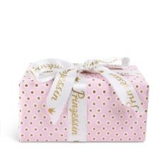 Geschenkpapier - Tupfer rosa/gold