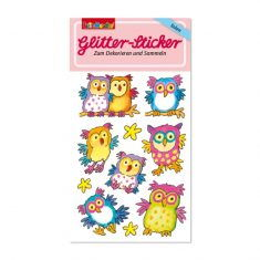Glitter-Sticker - Eulen