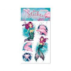 Glitter-Sticker - Meerjungfrau