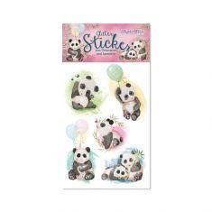 Glitter-Sticker - Pandas