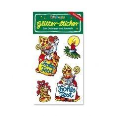 Glitter-Sticker - Weihnachtsmann