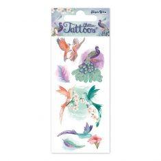 Glitter-Tattoos - Paradiesvögel