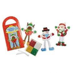 Glitzer-Mosaik-Bastelset - Weihnachtswünsche