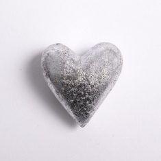 Gold und Silber Herz - Silber