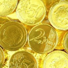 Goldmünzen - Kaubonbon mit Frucht