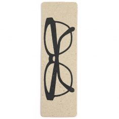 Lesezeichen aus Pappe - Brille