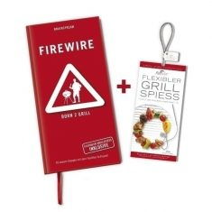 Grillspieß - FireWire, mit Grillbuch