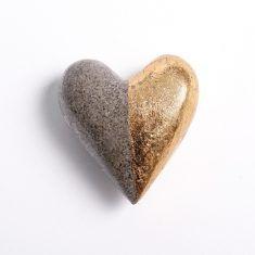 Gold und Silber Herz - Halb Gold