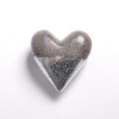 Gold und Silber Herz - Spitze Silber