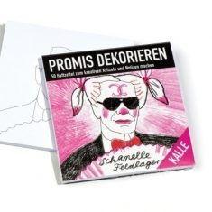 Haftzettel Promis dekorieren - Kalle