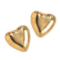 Herzen aus Vollmilchschokolade, gold