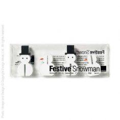 Deko-Schneemännchen aus Holz, 6,5 cm, 8er-Set