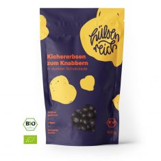 Kichererbsen zum Knabbern - in dunkler Schokolade, Bio