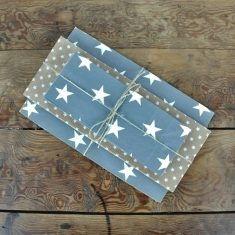 Ib Laursen - Papiertüten Sternenmix grau, 24er-Set