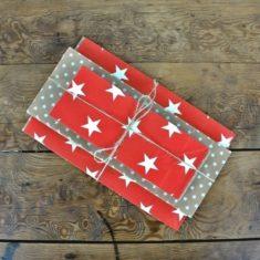Ib Laursen - Papiertüten Sternenmix rot, 24er-Set