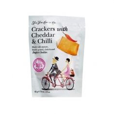 Käse-Cracker - Crackers with Cheddar & Chilli