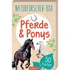 Kartenset - Naturforscher-Box, Pferde & Ponys