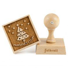 3D-Motiv-Keksstempel - Merry Christmas, folkroll
