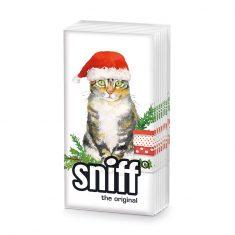 Taschentücher SNIFF - Christmas Kitty